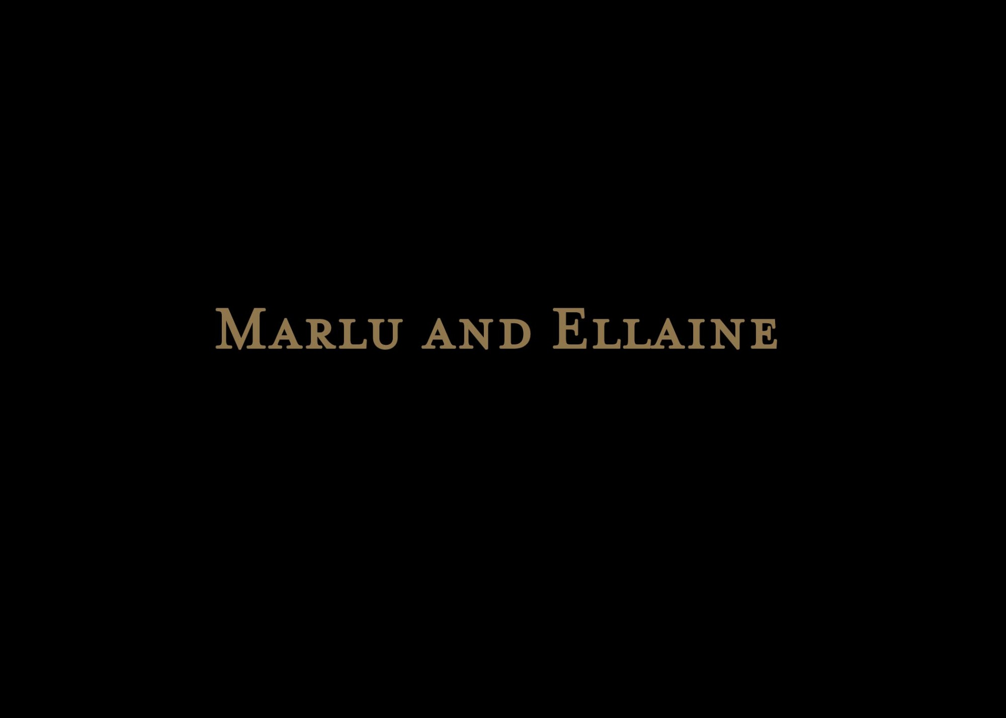 Marlu and Ellaine AVP